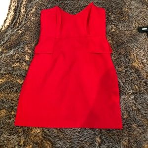 Mason strapless red dress
